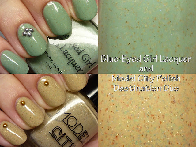 Blue-Eyed Girl Lacquer and Model City Polish Destination Duo