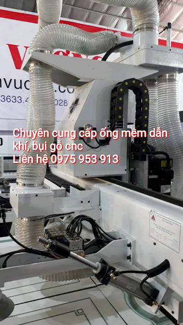 Ống gió bụi trắng lắp cho máy hút bụi cnc máy gỗ gọi nhanh giá rẻ 0975 953913