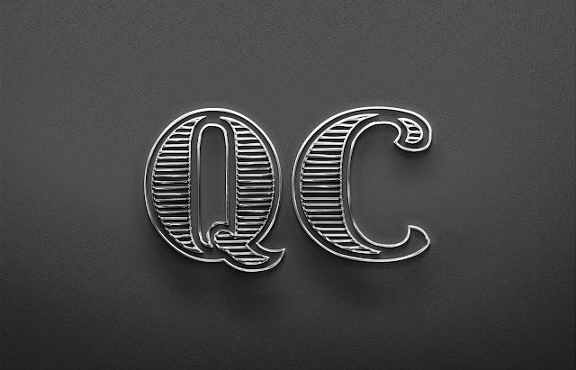 Marka Şirket Logo Tasarımı Metal efekti