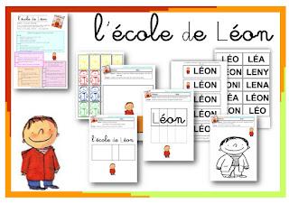 dossier, fiches album l'école de Léon PS MS GS maternelle