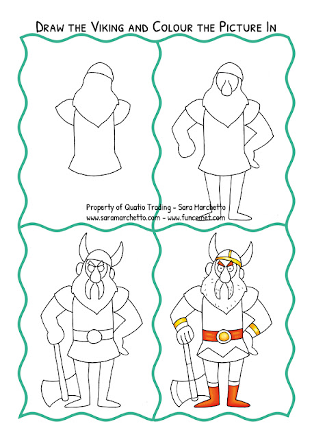 viking coloring sheet