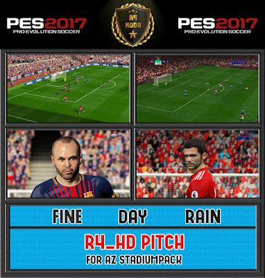PES 2017 R4_HD PITCH + FIX For AZ_StadiumPack AIO