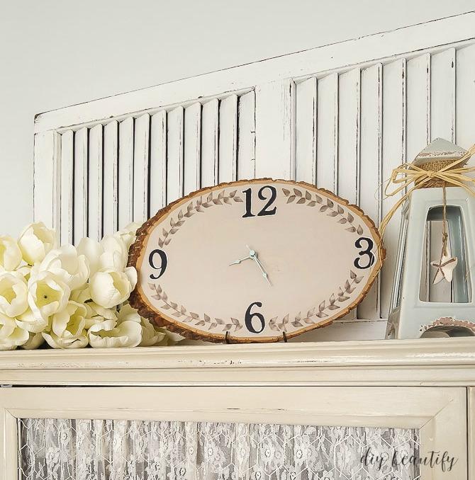 wood slice clock tutorial