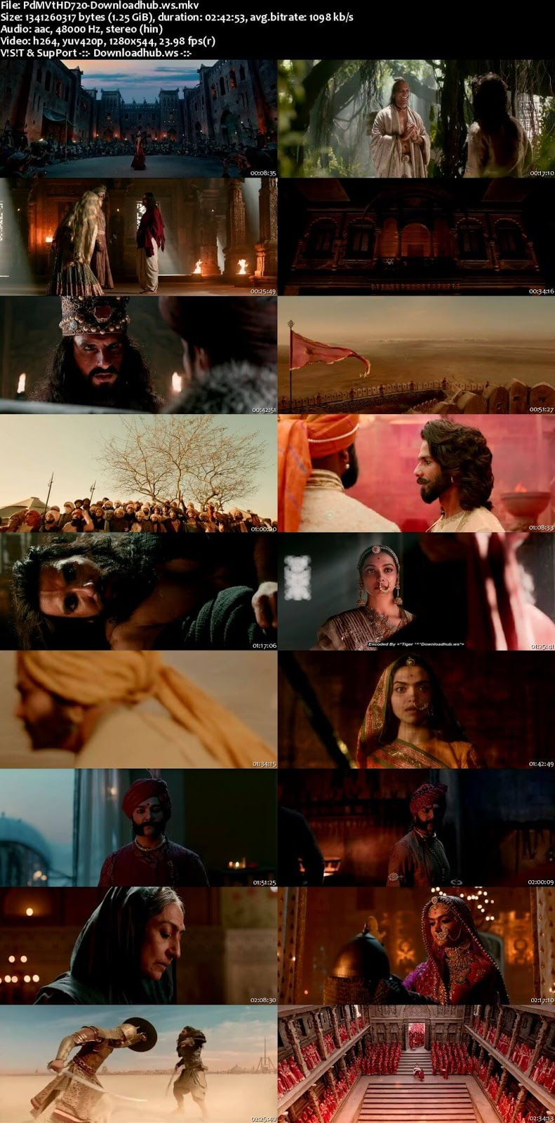 Padmaavat 2018 Hindi 720p HDRip ESubs