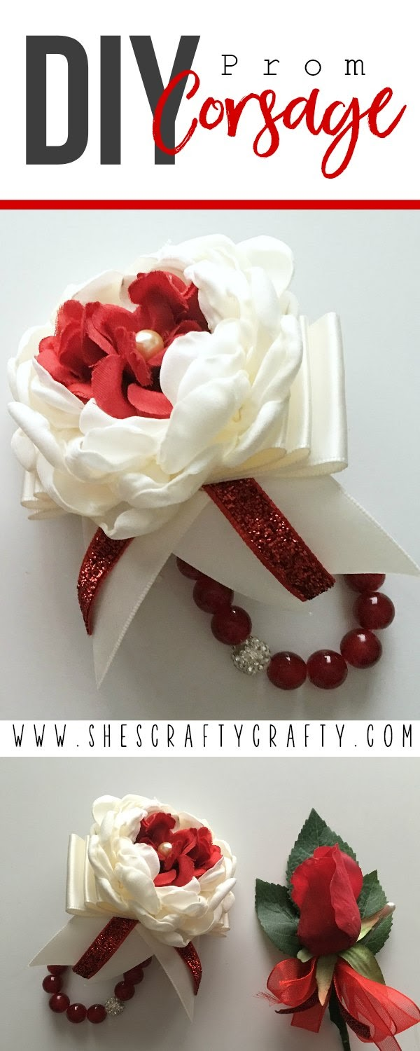 DIY Prom Corsage- full instructions for making your own custom prom corsage