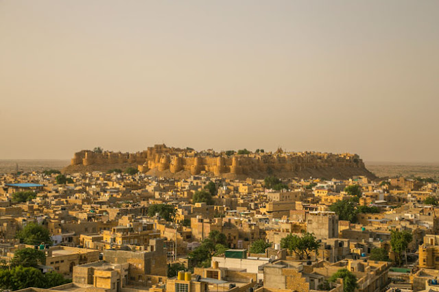 jaisalmer fort golden hour photo
