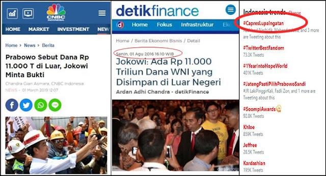 Ketika Capres 01 'Ditampol' Presiden Jokowi, #CapresLupaIngatan Puncaki Trending Topic