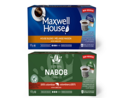 Maxwell House & Nabob Coffee Free Samplers