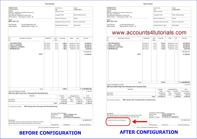 tally gst invoice format
