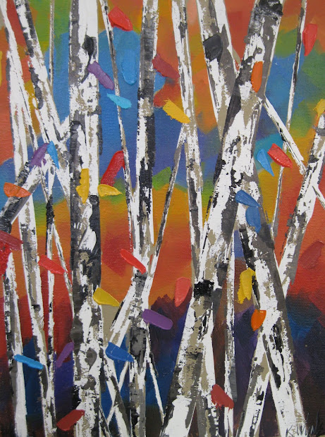 Aspen Tree Paintings March 2012