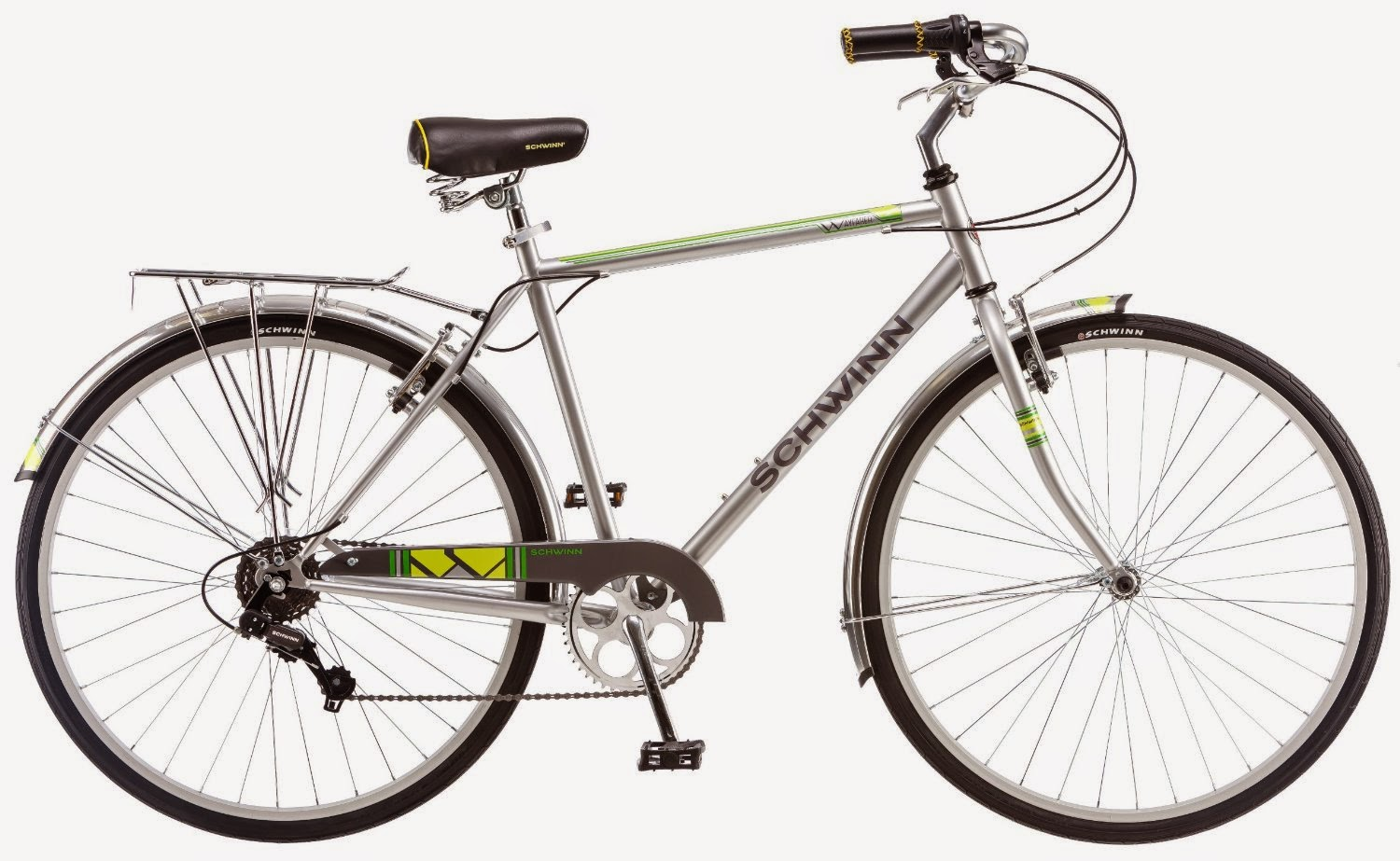 Schwinn Men's Wayfarer 700c Bicycle, review, hybrid bike for commuting, town, cruising & leisure cycling, 7-speed SRAM twist shifters, plus review of women's Schwinn Wayfarer