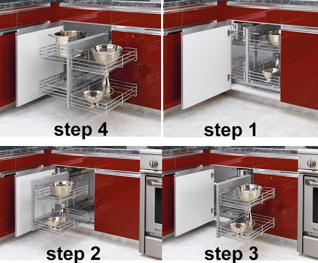 Corner Kitchen Cabinet Storage Ideas - AyanaHouse