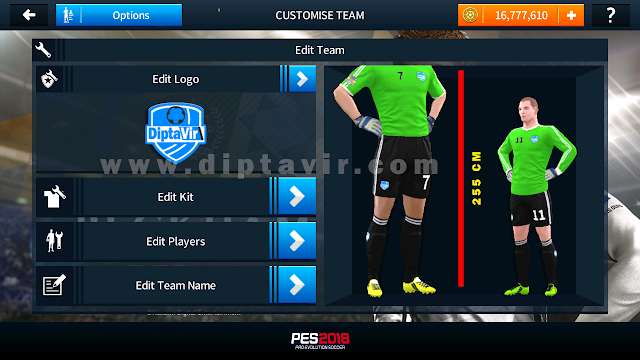 Save Data (profile.dat) Pemain Tinggi Dream League Soccer 2018 (255 cm)