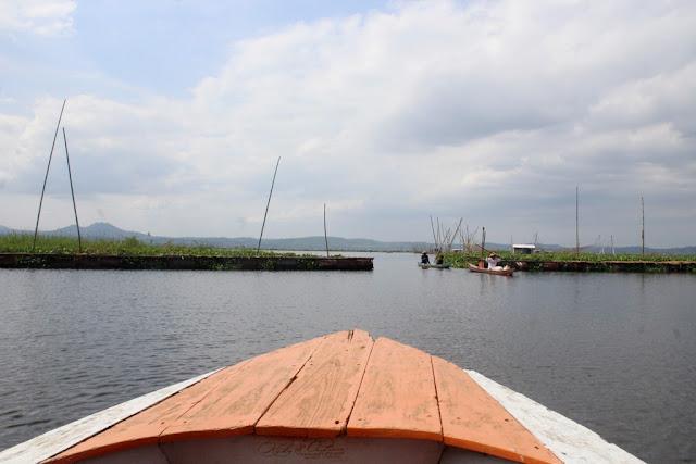 Diatas Perahu Motor di Rawa Pening