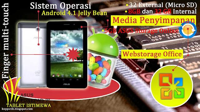 Media penyimpanan ASUS Fonepad 7 Inci