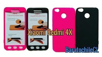 protector silicona 360 Redmi 4X