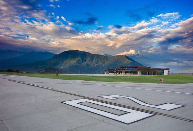 Image Attribute: At the runway of Pakyong Airport / Source: Airport Authority of India (AAI)