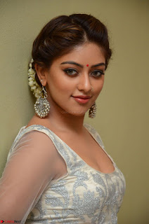 Anu Emmanuel in a Transparent White Choli Cream Ghagra Stunning Pics 070.JPG