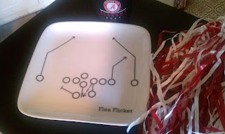 Alabama Football Plate
