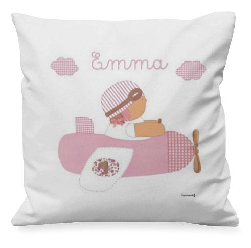 cojín infantil personalizado con nombre - personalized cushion