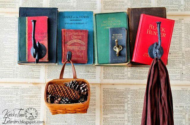 7 formas creativas de reciclar libros viejos (DIY), libro como estantería
