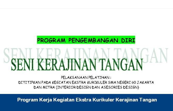 Program Kerja Kegiatan Ekstra Kurikuler Kerajinan Tangan