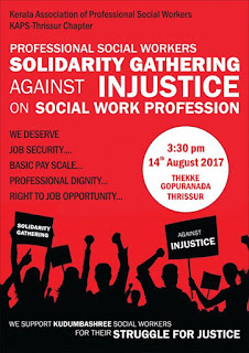 Social Workers organised solidarity gatherings