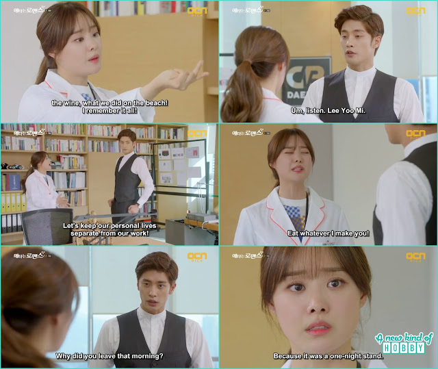 it was the least yoo mi shout and told she remember everything and not to treat her like the housekeeper she is the nutritionist - My Secret Romance: Episode 3