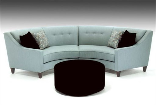Curved sofas and sectionals for small spaces