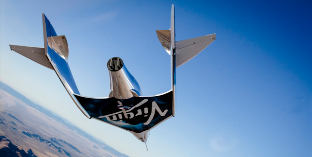 Photo of VSS Unity during is seventh glide flight on January 11, 2018. Photo Credit: Virgin Galactic