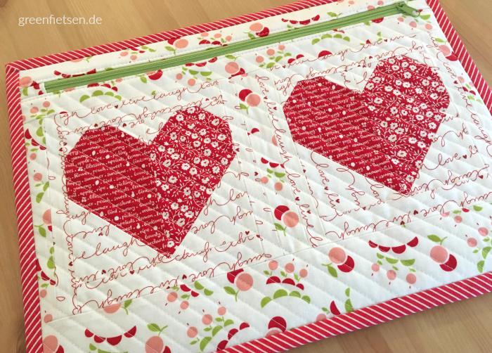 Mappe mit Herz-Quiltblock & 7 Nähtipps für dich
