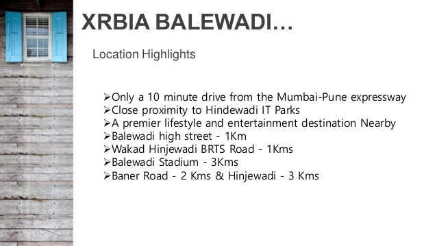 Xrbia Balewadi Location Map