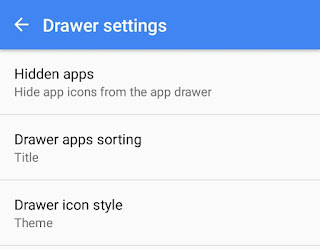 Drawer Settings