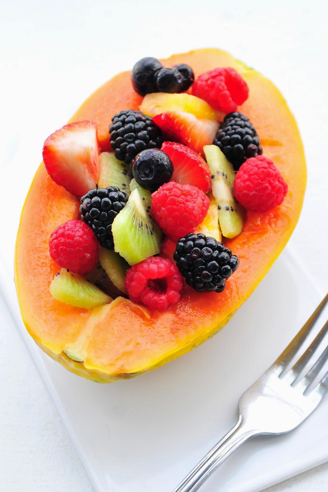 Simply Gourmet Papaya Fruit Salad 3 Years Of Blogging