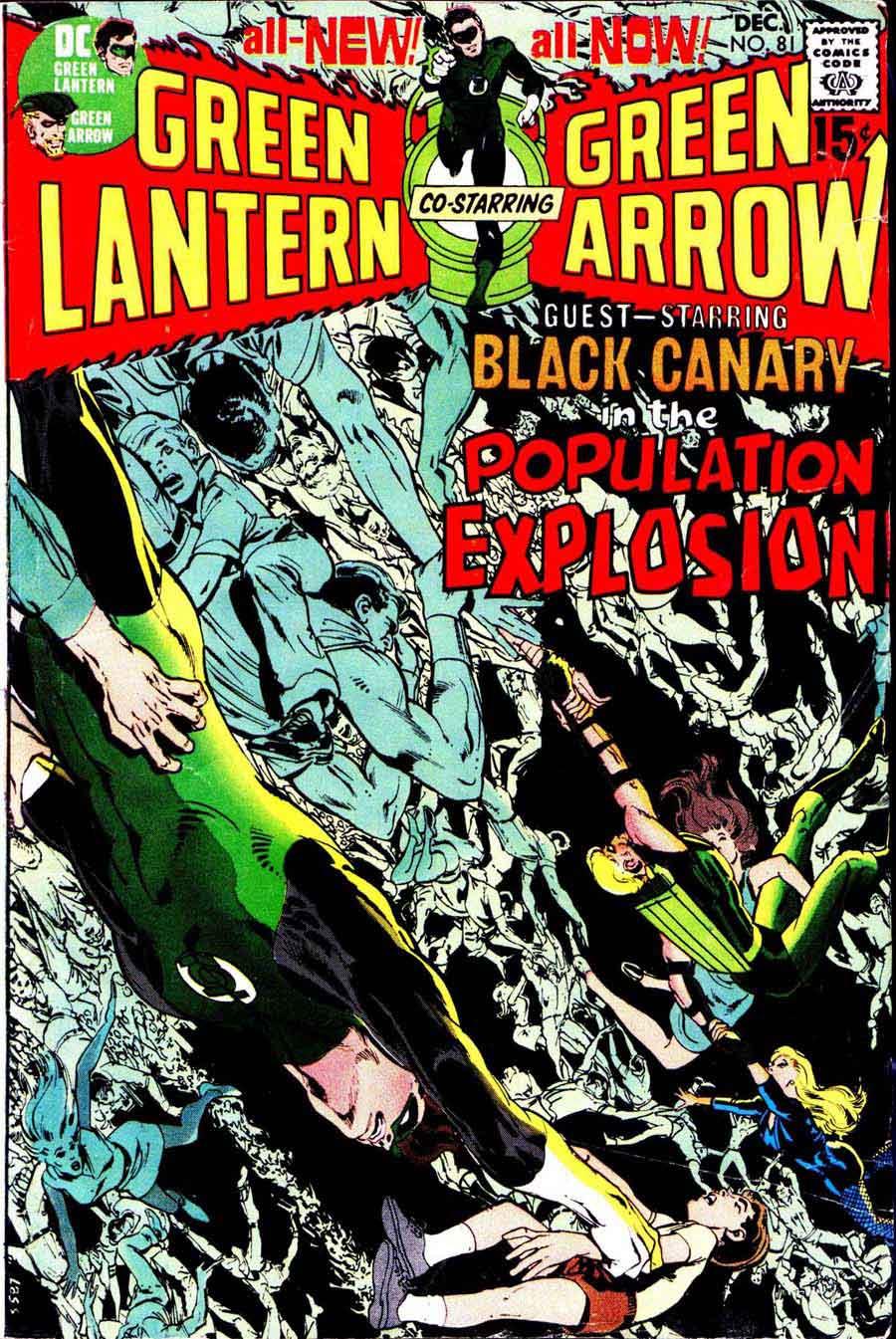 Green Lantern Green Arrow #81 dc comic book cover art by Neal Adams