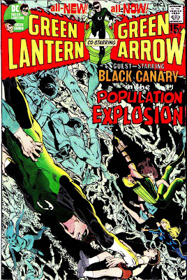 Green Lantern Green Arrow #81 dc comic book cover art by Neal Adams