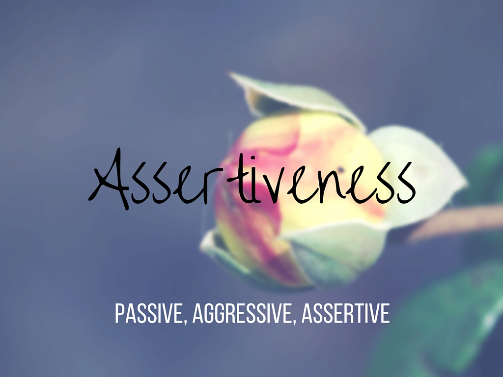 From Sarah Lex Assertiveness Passive Aggressive And