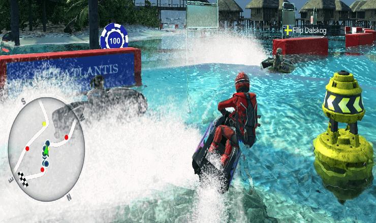 تحميل لعبة سباق الموتوسيكلات المائية aqua moto racing utopia مجانا