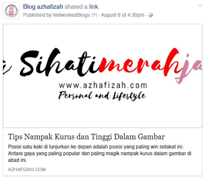 Cara Buat Gambar Artikel Muncul Di Facebook Bila Dikongsikan Dari Blog