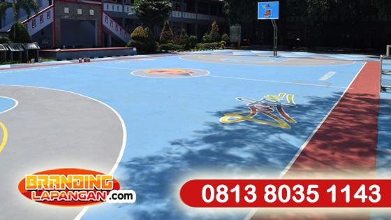 jasa cat lapangan basket outdoor, kontraktor pengecatan lapangan, tukang cat lapangan basket handal