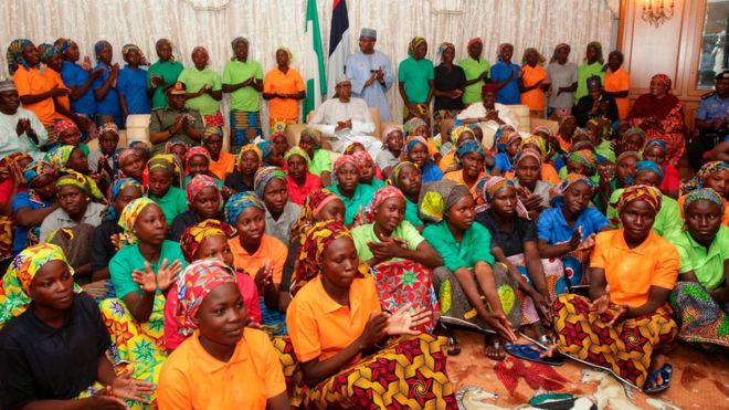 Nigeria Chibok girls: 'One refused to be released'