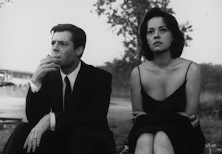 Marcello Mastroianni and Jeanne Moreau in La Notte