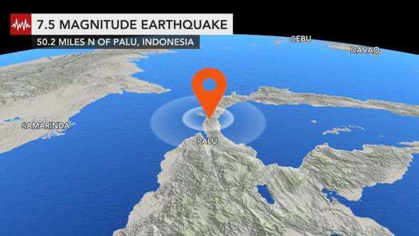 Tsunami atinge cidade da Indonésia