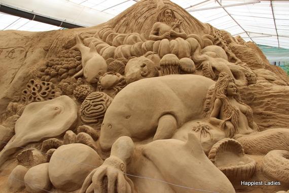 marine life sand sculpture 1