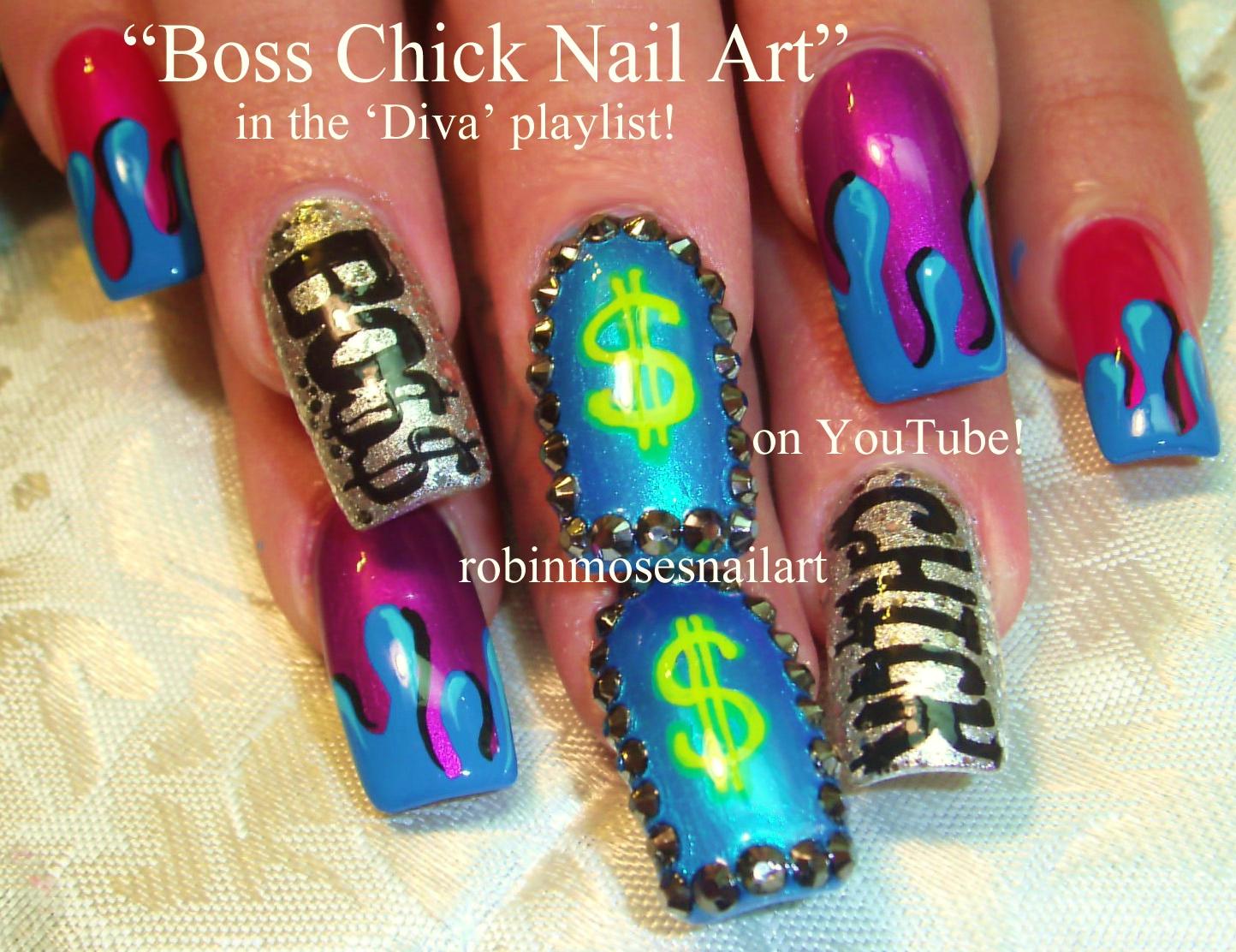 Nail Art by Robin Moses: SHINE nail art, DIVA nail art, Boss Chick ...