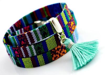 etniczna bransoletka boho aztecka biżuteria kolorowa bransoleta Peru etniczna biżuteria