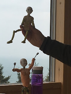 Two unfinished  The dance of life animation figures  by Corina Duyn