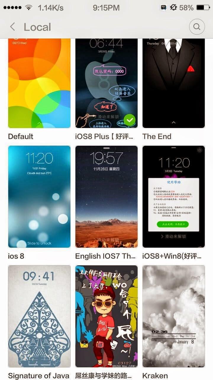 Custom ROM Unofficial MIUI 6 for Xiaomi Redmi 1s