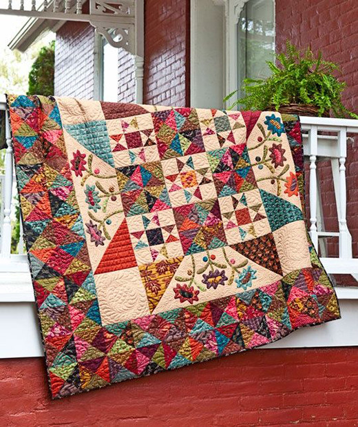 Midnight Blooms Quilt Free Pattern Inspired by Late Bloomers from designer Kim Diehl