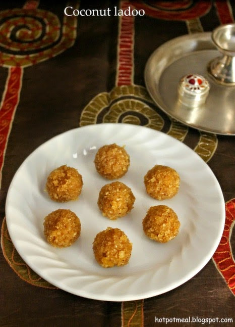 Hot pot cooking: Coconut ladoo